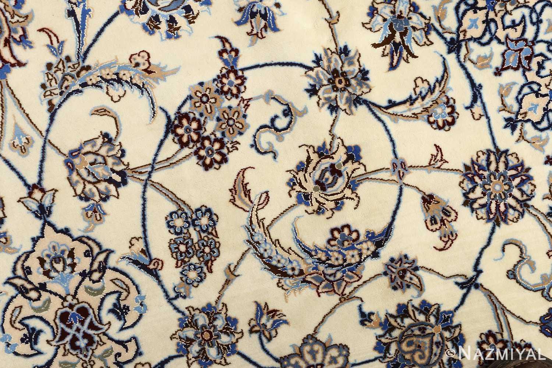 ivory vintage nain persian rug 51144 scroll Nazmiyal
