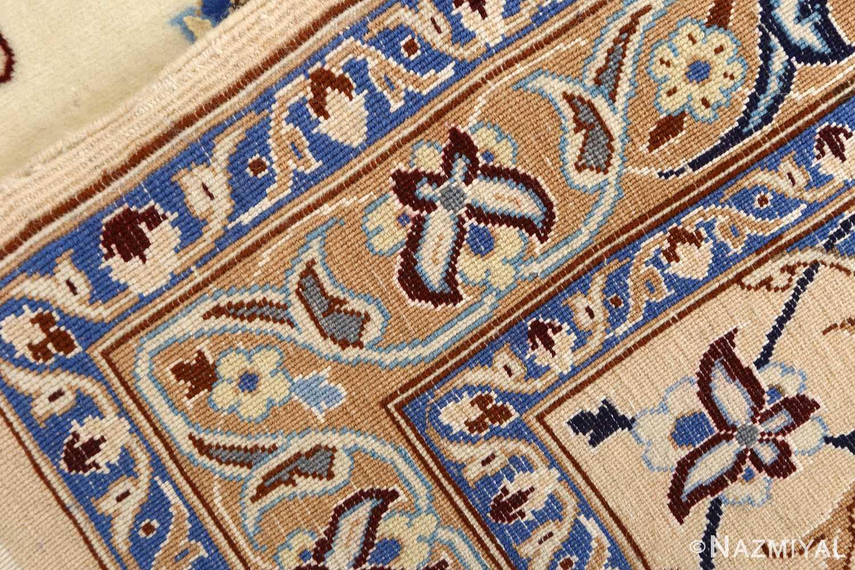 ivory vintage nain persian rug 51144 weave Nazmiyal