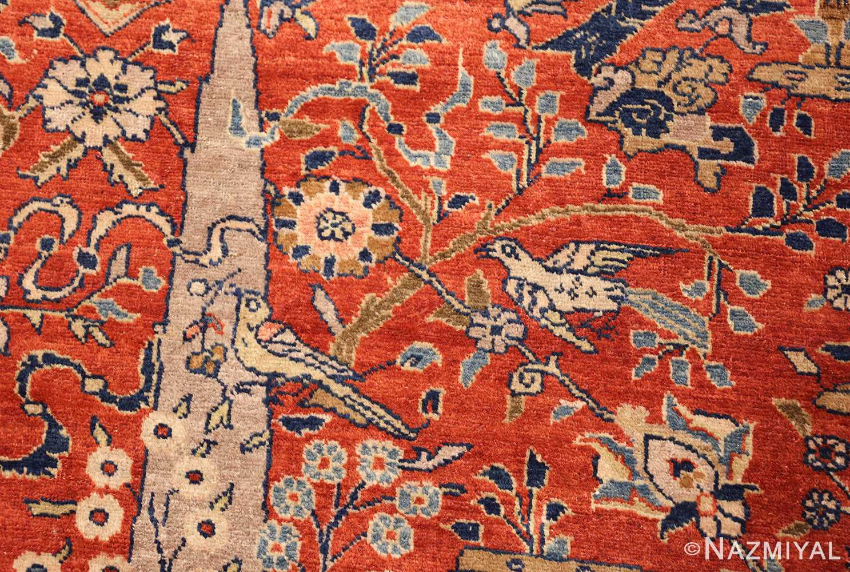 large animal motif antique tabriz persian rug 49271 birds Nazmiyal