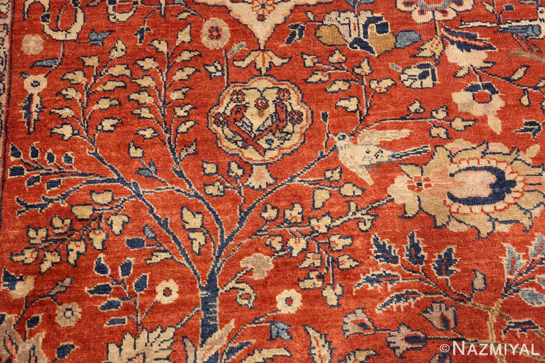 large animal motif antique tabriz persian rug 49271 bluetree Nazmiyal