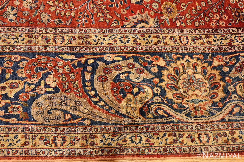 large animal motif antique tabriz persian rug 49271 border Nazmiyal
