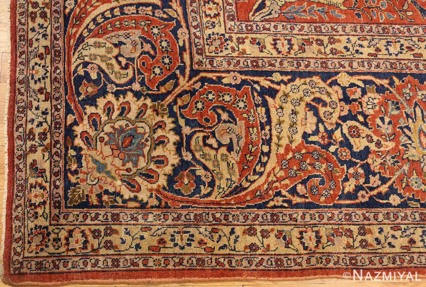 large animal motif antique tabriz persian rug 49271 corner Nazmiyal