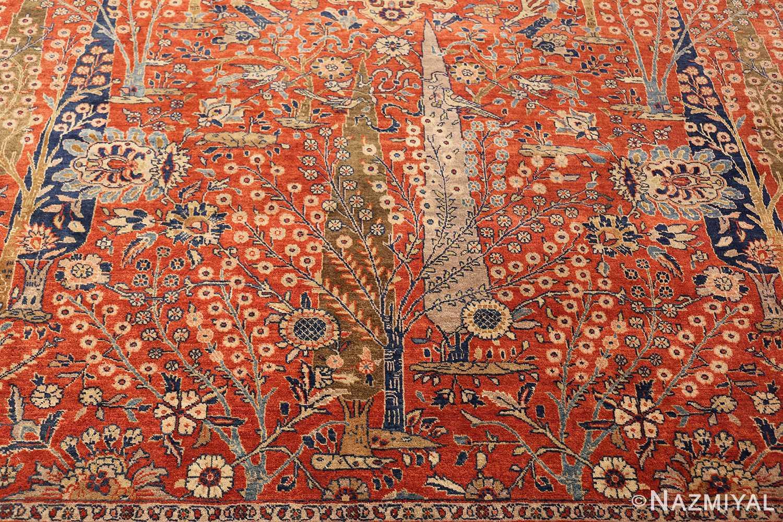 large animal motif antique tabriz persian rug 49271 down Nazmiyal