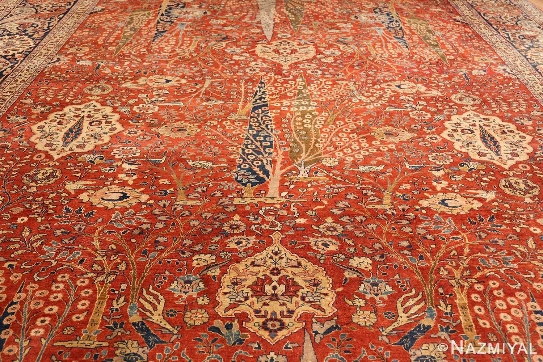 large animal motif antique tabriz persian rug 49271 full Nazmiyal