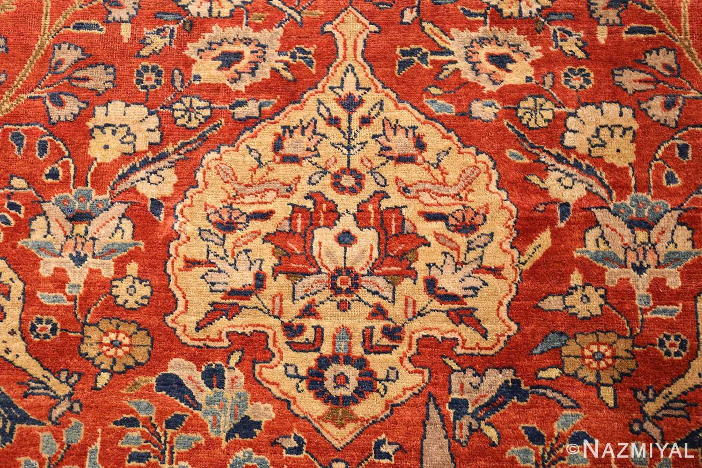 large animal motif antique tabriz persian rug 49271 gold Nazmiyal