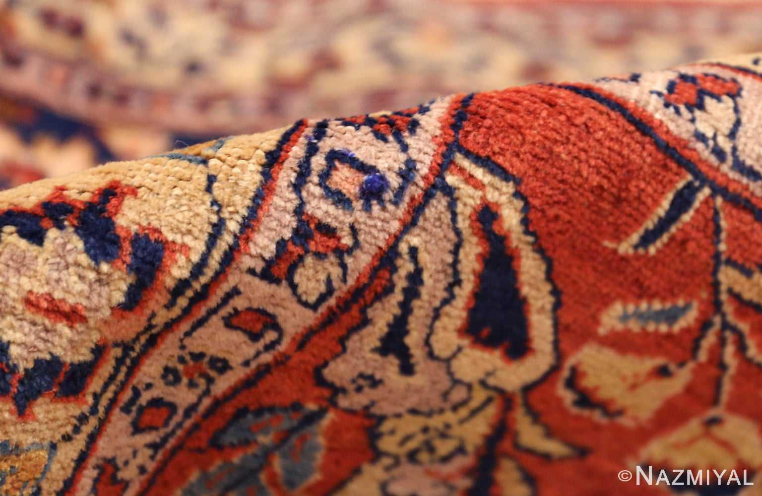 large animal motif antique tabriz persian rug 49271 pile Nazmiyal