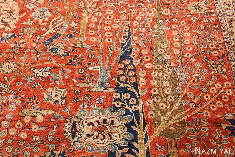 large animal motif antique tabriz persian rug 49271 trees Nazmiyal