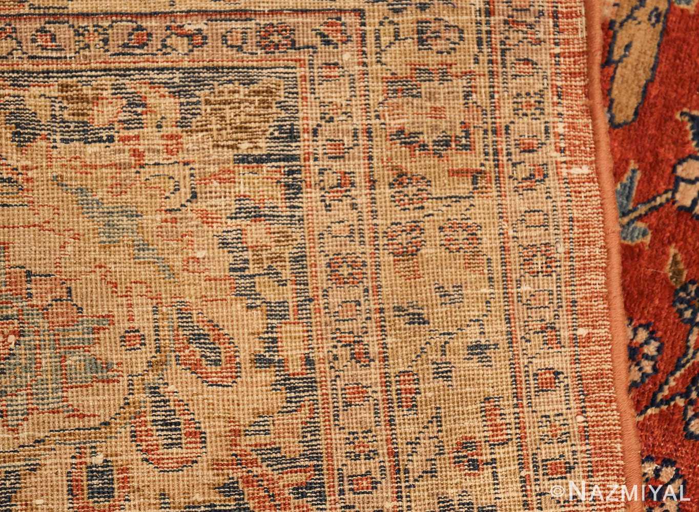 large animal motif antique tabriz persian rug 49271 weave Nazmiyal