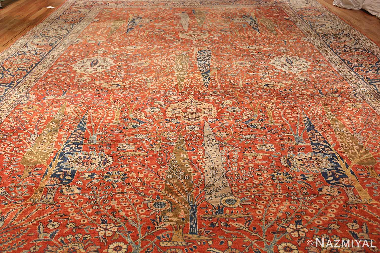 large animal motif antique tabriz persian rug 49271 whole Nazmiyal