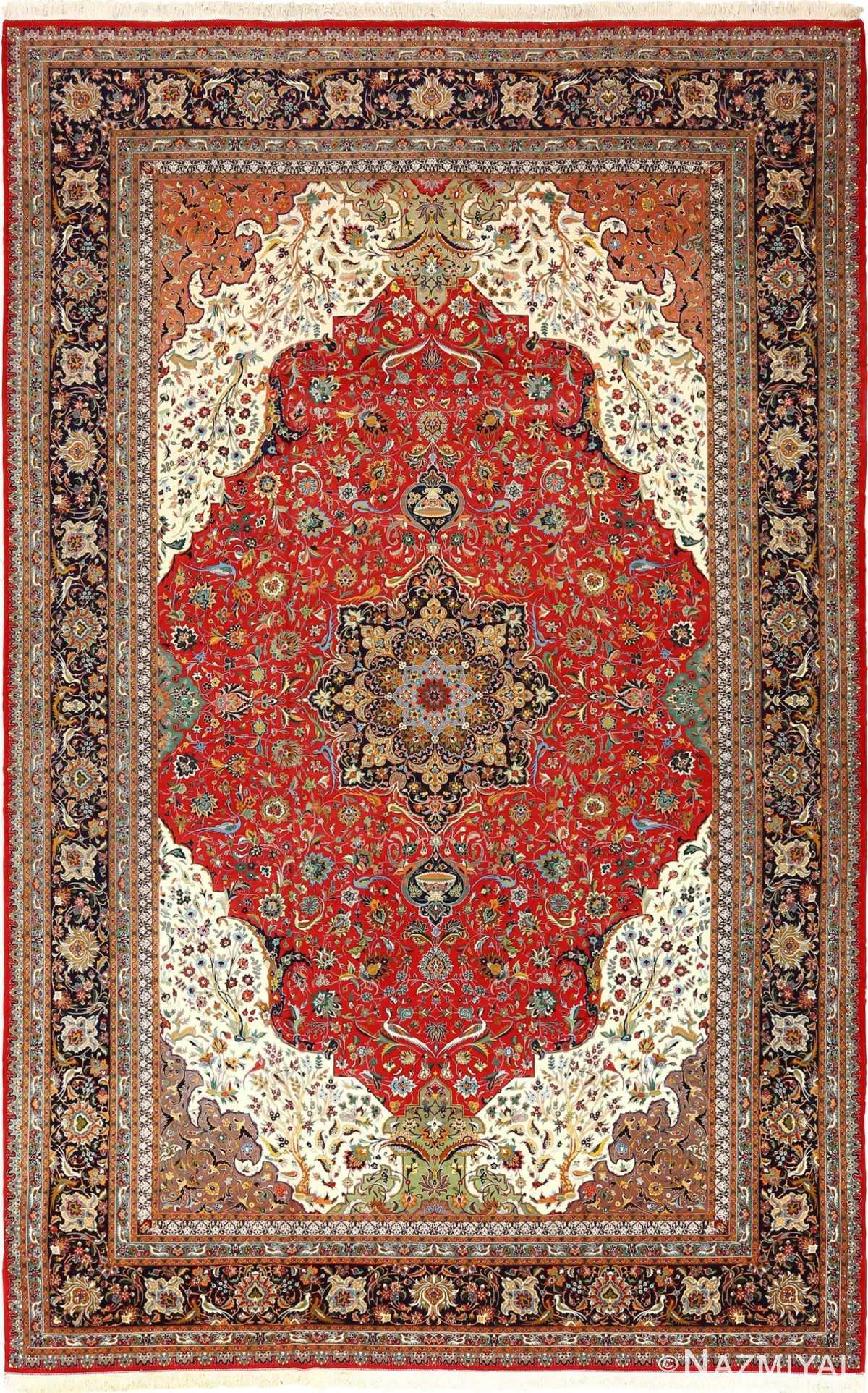 large animal motif vintage tabriz persian rug 51122 Nazmiyal