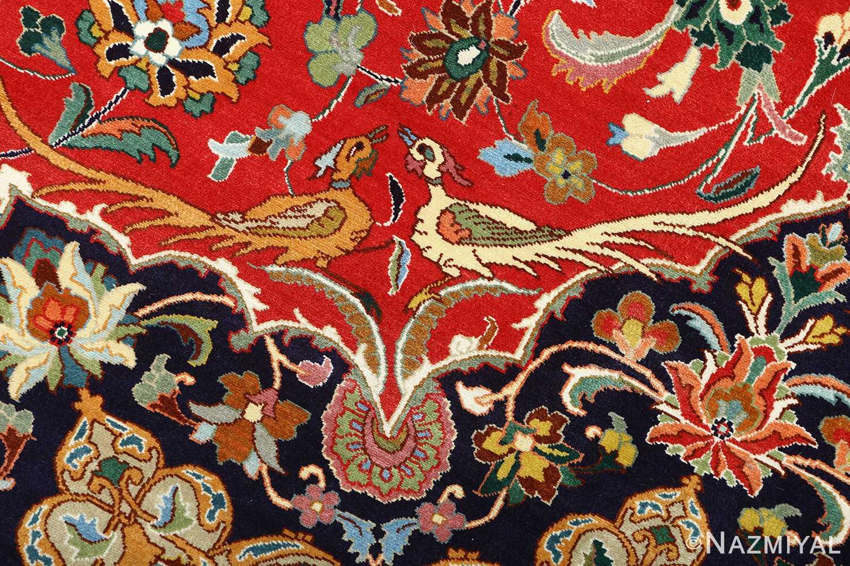 large animal motif vintage tabriz persian rug 51122 birds Nazmiyal