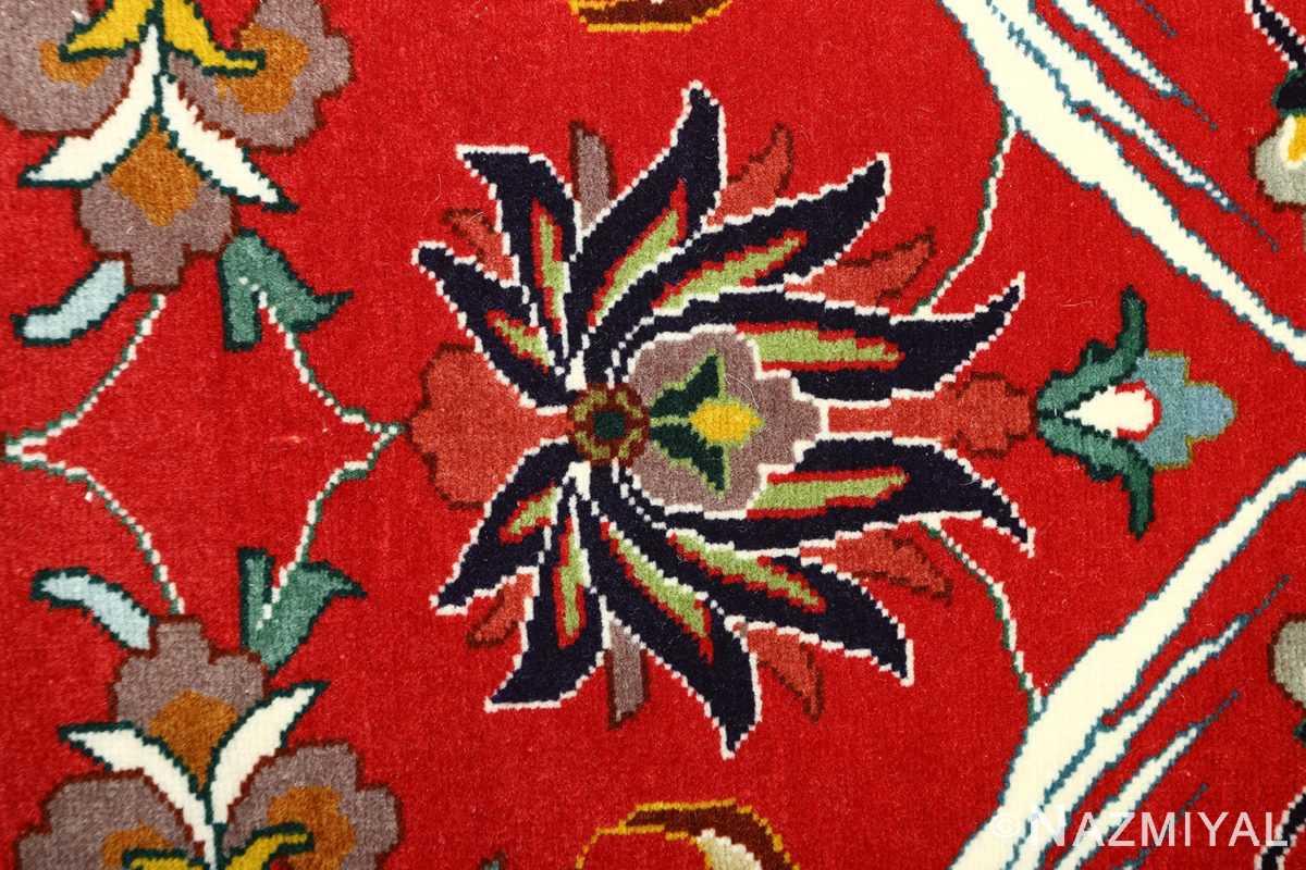 large animal motif vintage tabriz persian rug 51122 black Nazmiyal