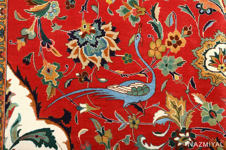 large animal motif vintage tabriz persian rug 51122 bluebird Nazmiyal