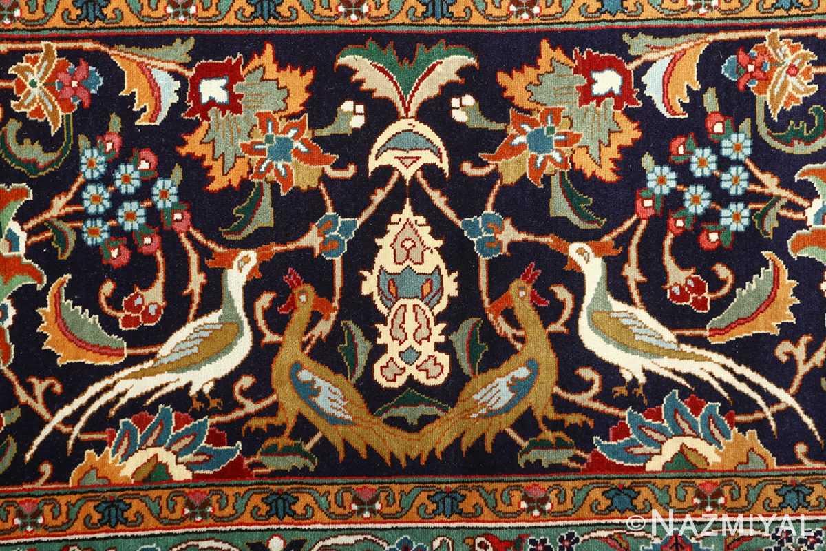 large animal motif vintage tabriz persian rug 51122 border Nazmiyal