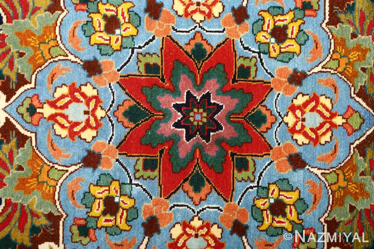 large animal motif vintage tabriz persian rug 51122 center Nazmiyal