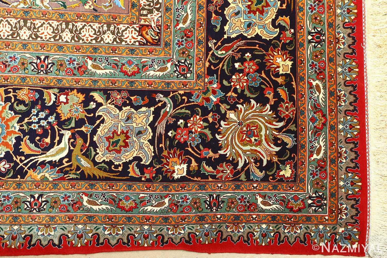 large animal motif vintage tabriz persian rug 51122 corner Nazmiyal