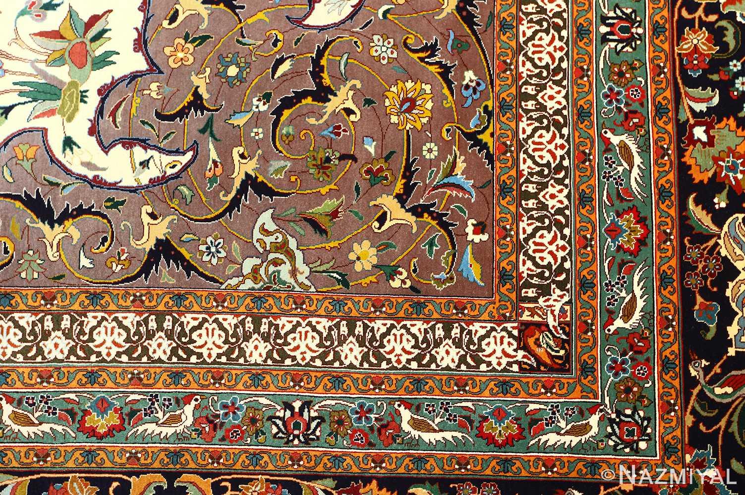 large animal motif vintage tabriz persian rug 51122 design Nazmiyal