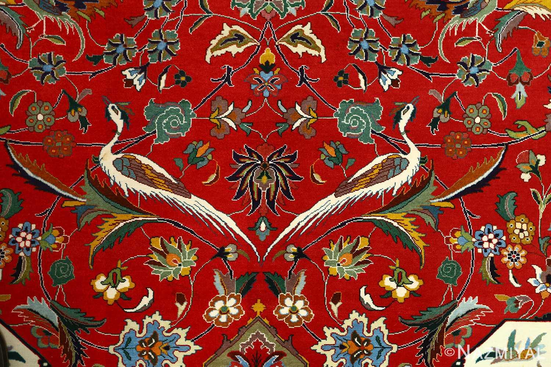 large animal motif vintage tabriz persian rug 51122 field Nazmiyal
