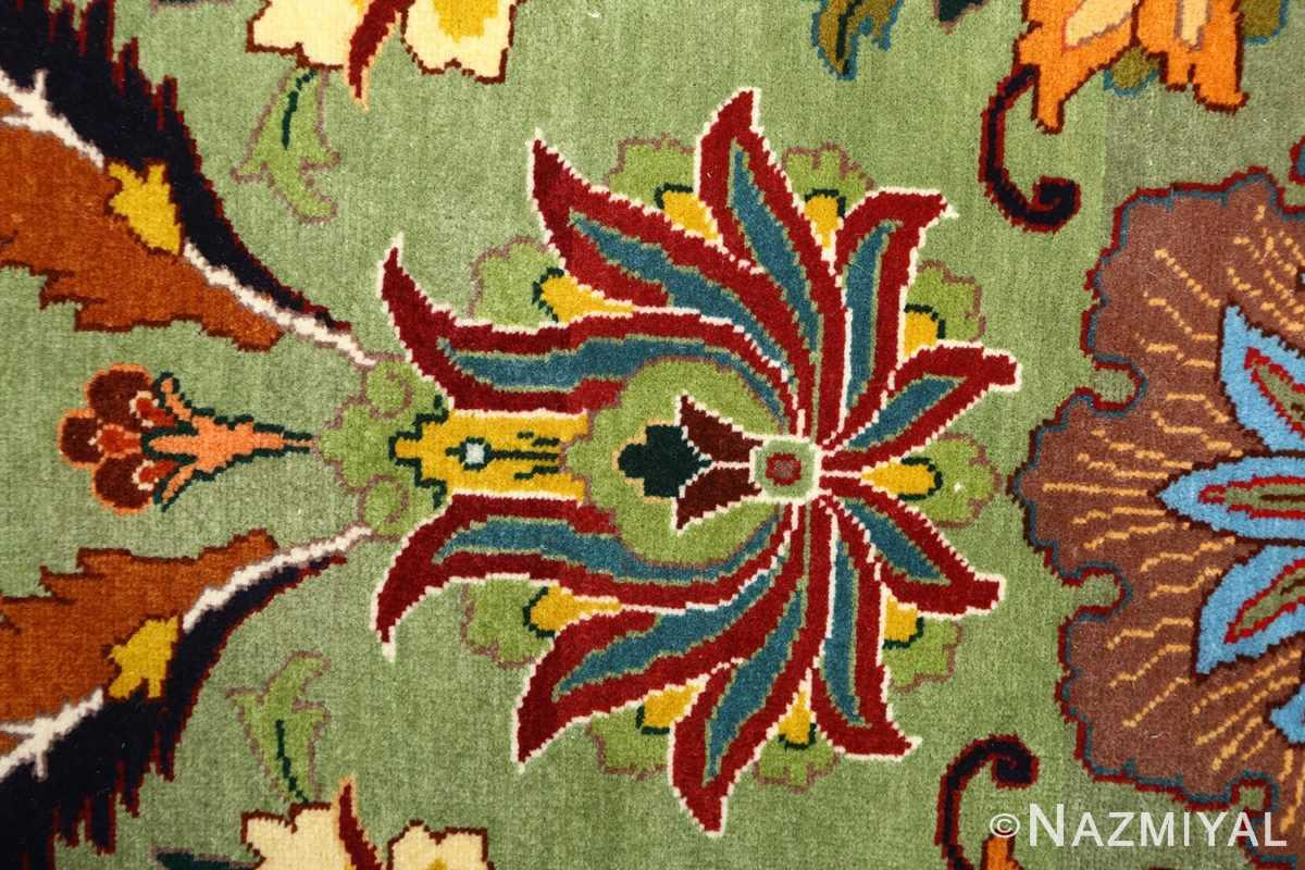 large animal motif vintage tabriz persian rug 51122 green Nazmiyal