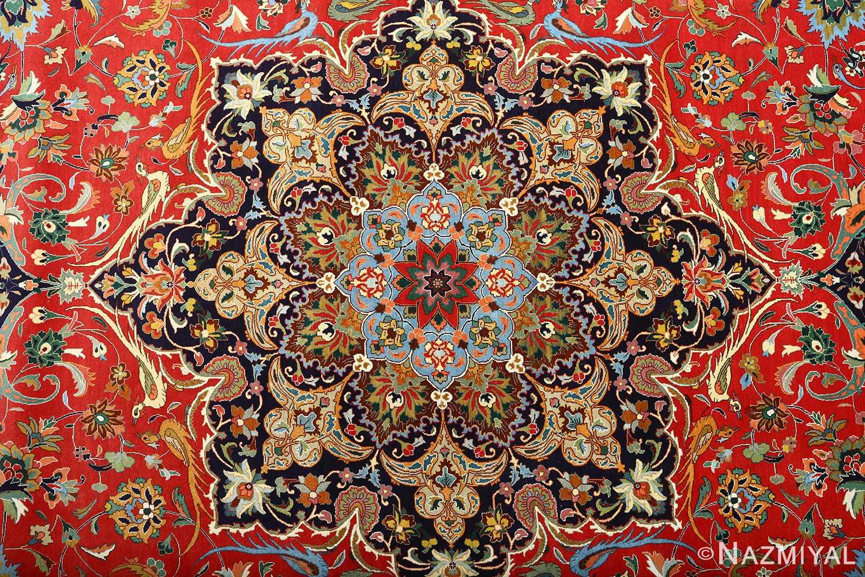 large animal motif vintage tabriz persian rug 51122 medallion Nazmiyal