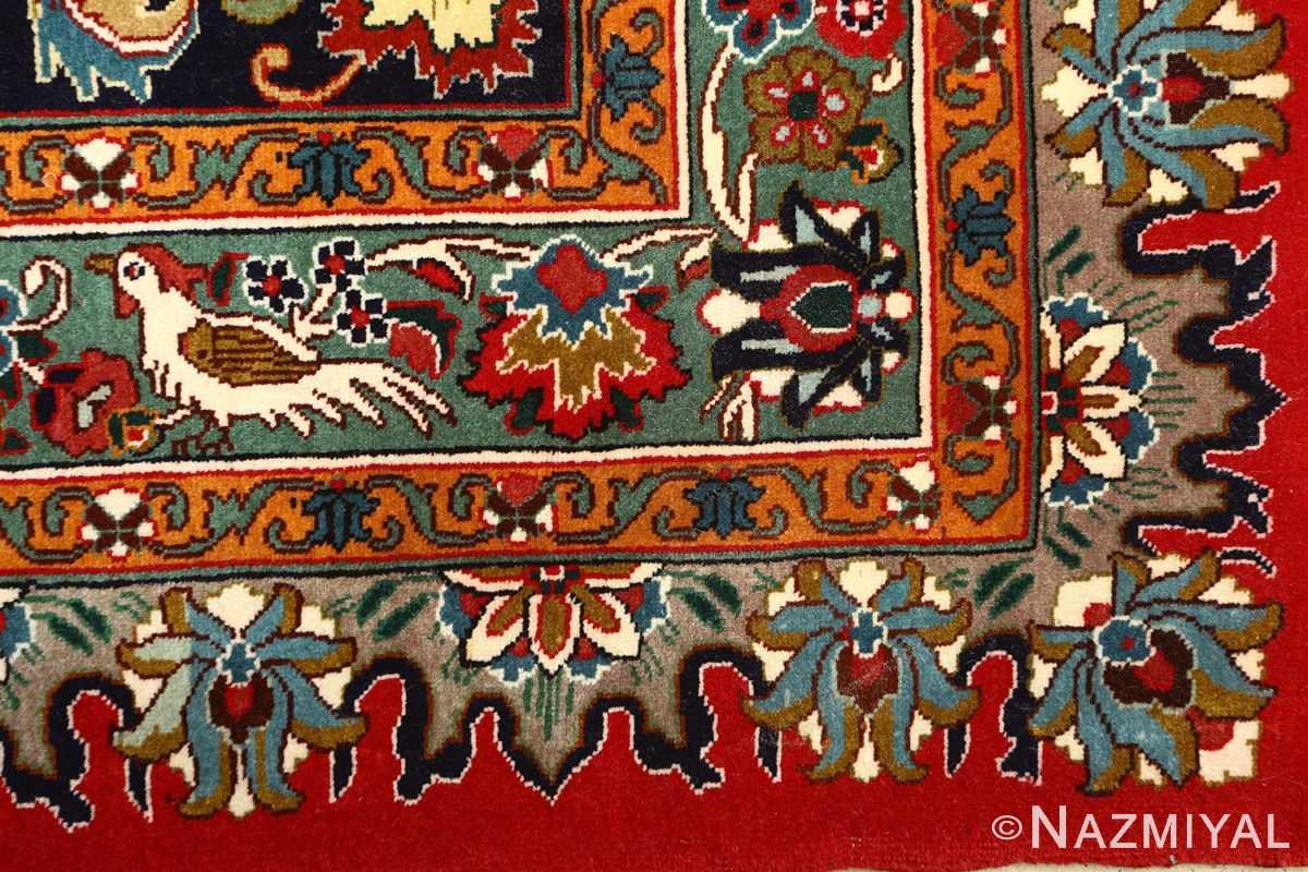 large animal motif vintage tabriz persian rug 51122 part Nazmiyal