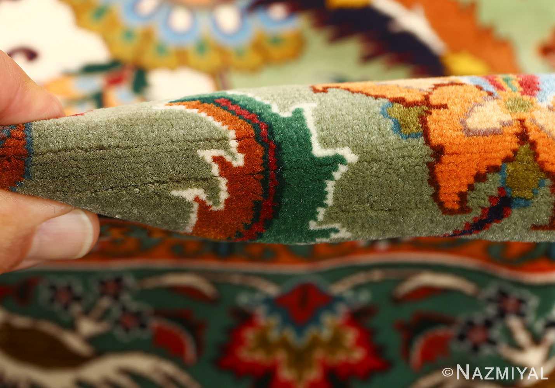 large animal motif vintage tabriz persian rug 51122 pile Nazmiyal