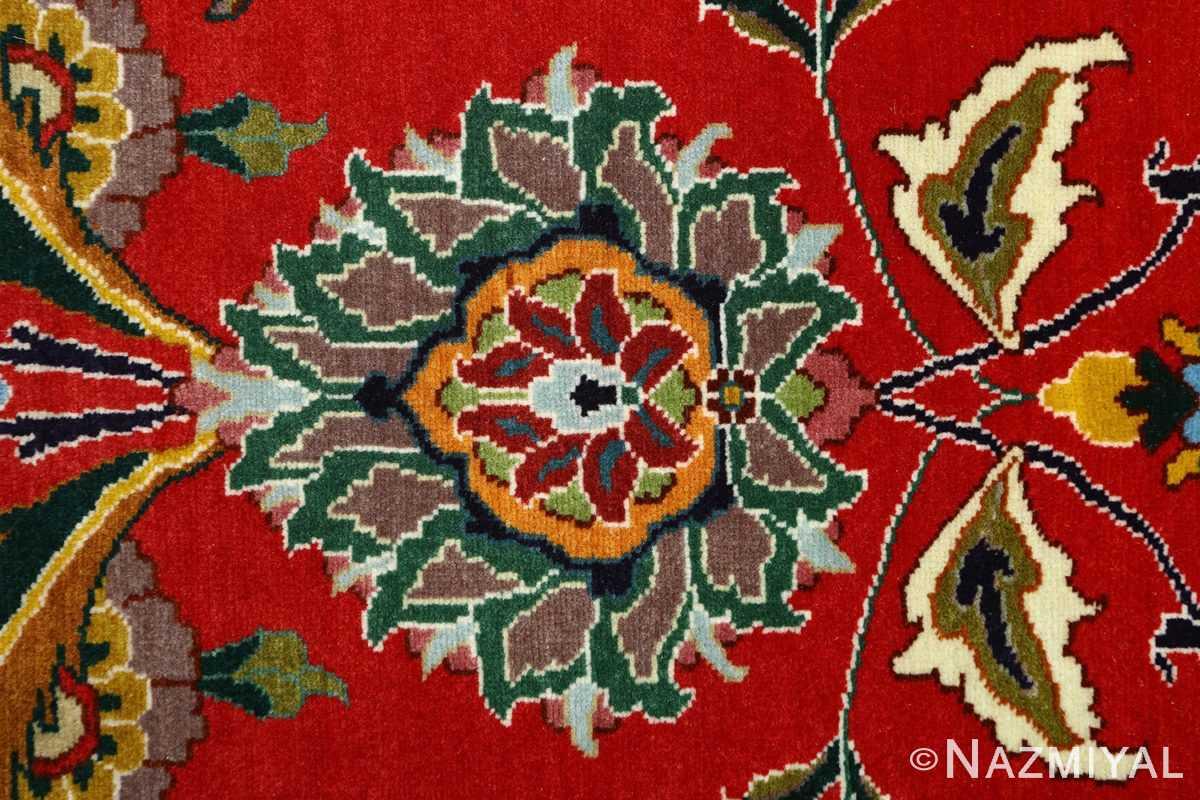 large animal motif vintage tabriz persian rug 51122 red Nazmiyal