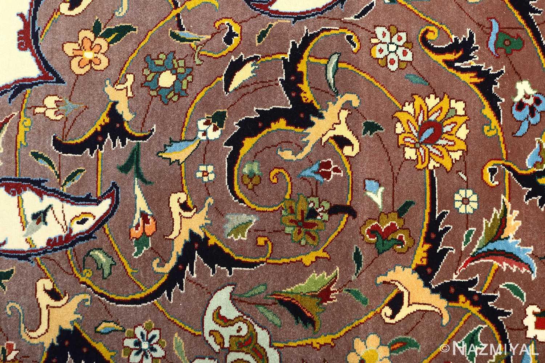 large animal motif vintage tabriz persian rug 51122 scroll Nazmiyal