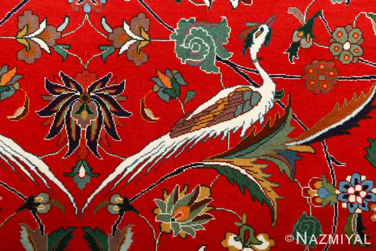 large animal motif vintage tabriz persian rug 51122 simorgh Nazmiyal