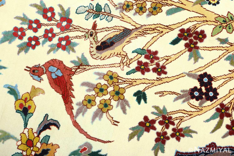 large animal motif vintage tabriz persian rug 51122 singing Nazmiyal