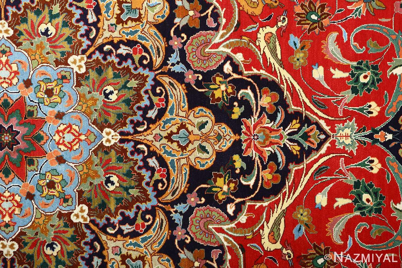 large animal motif vintage tabriz persian rug 51122 top Nazmiyal