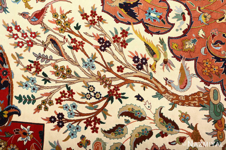 large animal motif vintage tabriz persian rug 51122 tree Nazmiyal