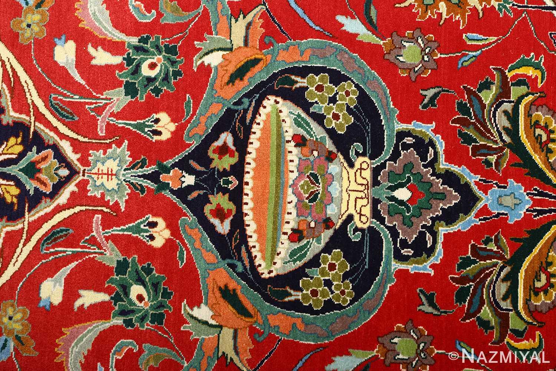 large animal motif vintage tabriz persian rug 51122 vase Nazmiyal