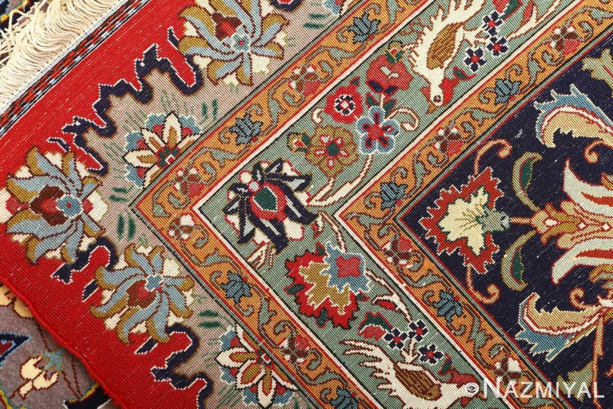 large animal motif vintage tabriz persian rug 51122 weave Nazmiyal