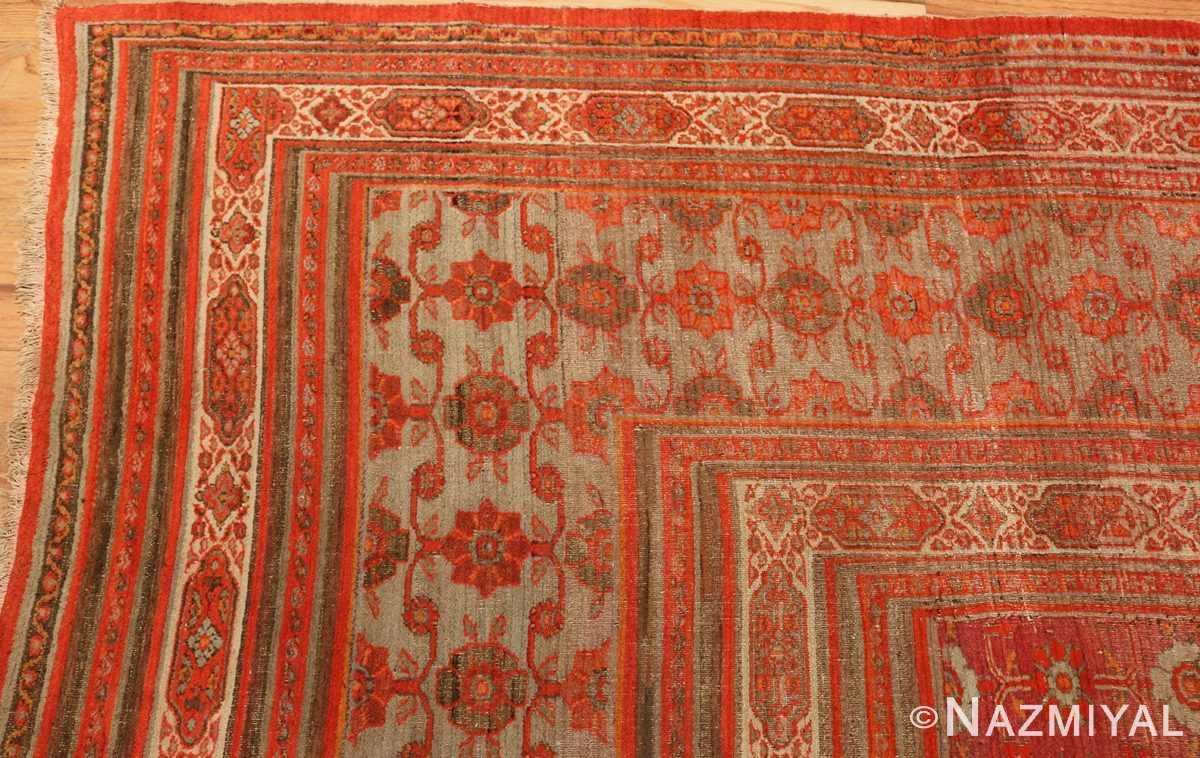 large antique khorassan persian rug 49365 corner Nazmiyal