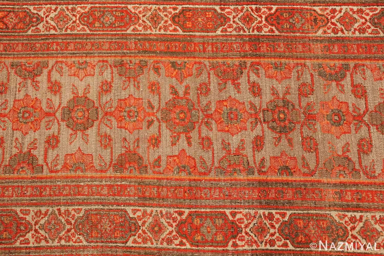large antique khorassan persian rug 49365 green Nazmiyal