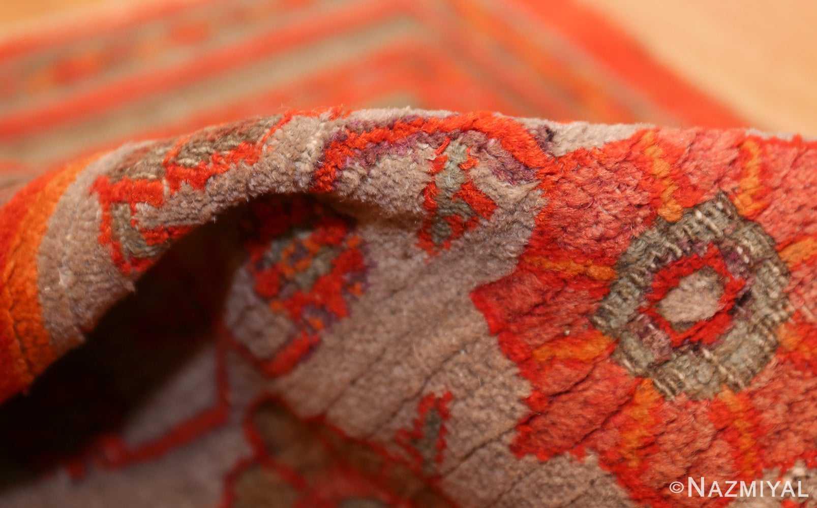 large antique khorassan persian rug 49365 pile Nazmiyal