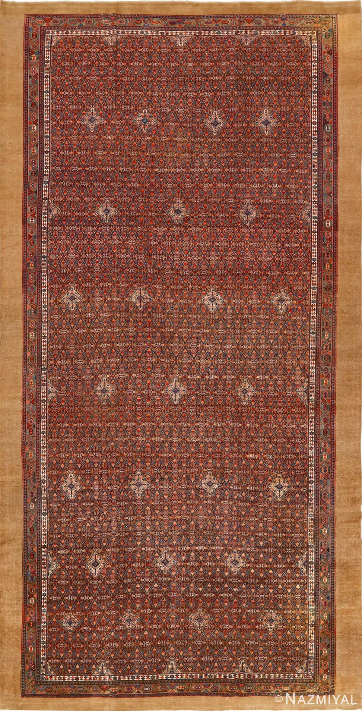large antique serab persian rug 51118 Nazmiyal