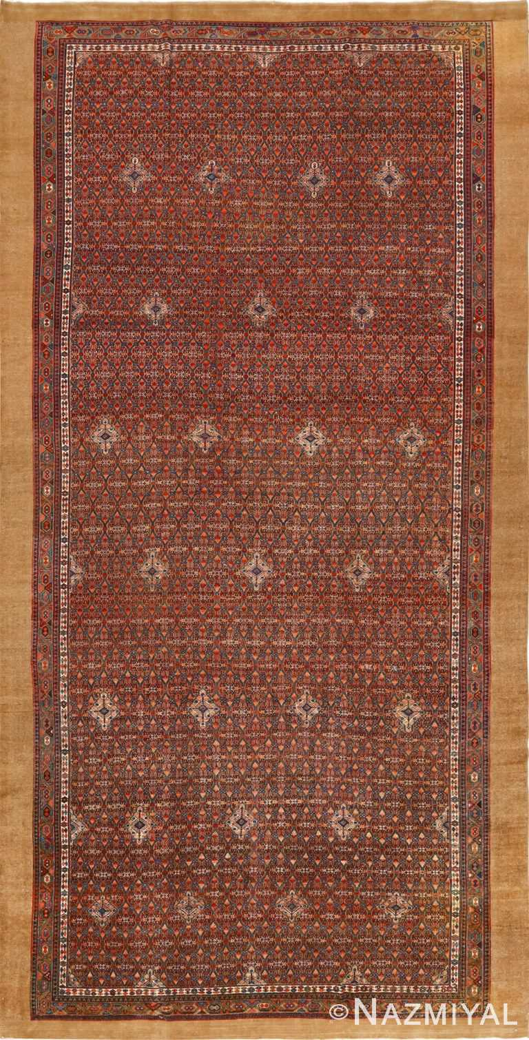 large antique serab persian rug 51118 Nazmiyal