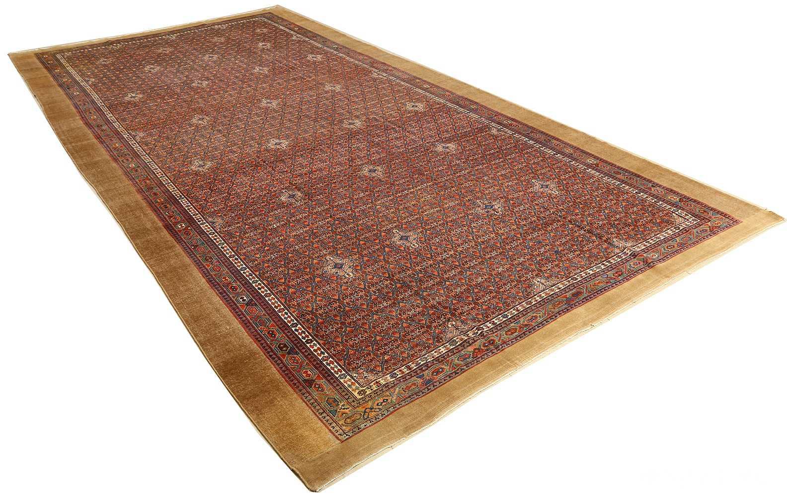 large antique serab persian rug 51118 full Nazmiyal
