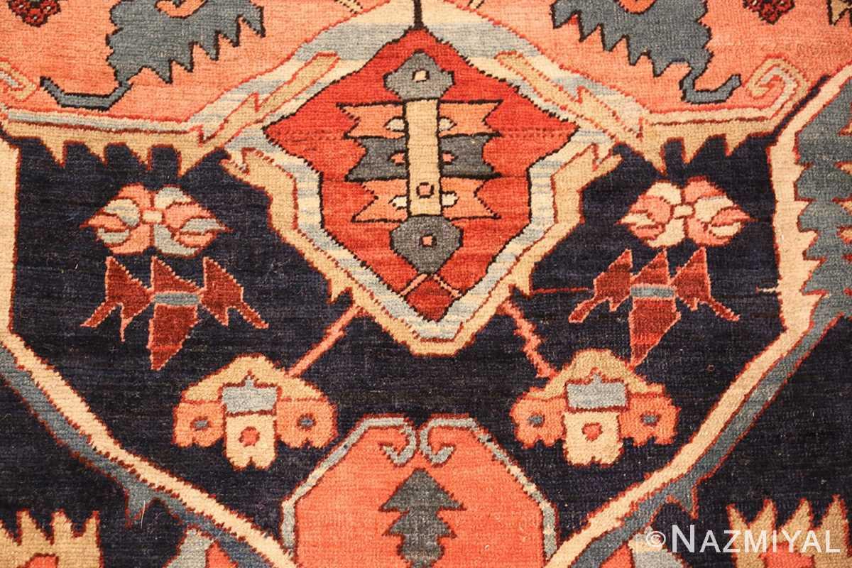 large antique serapi persian rug 49324 blue Nazmiyal