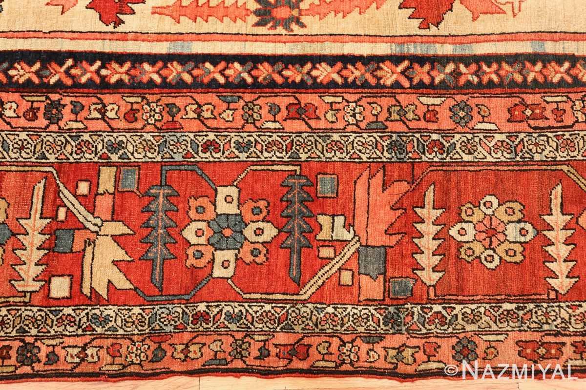 large antique serapi persian rug 49324 border Nazmiyal