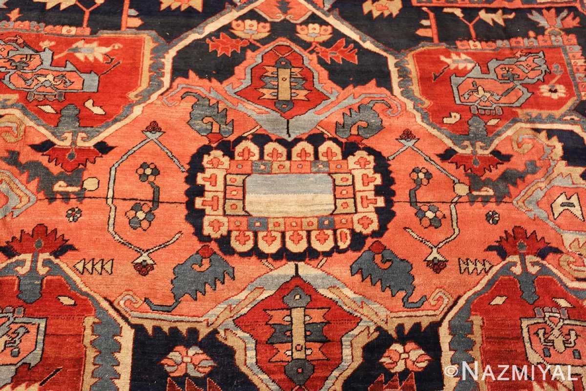large antique serapi persian rug 49324 center Nazmiyal