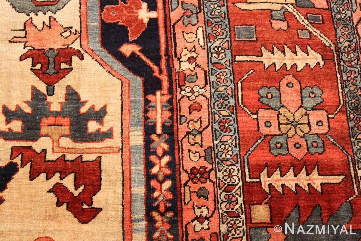large antique serapi persian rug 49324 design Nazmiyal