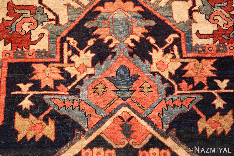 large antique serapi persian rug 49324 pattern Nazmiyal