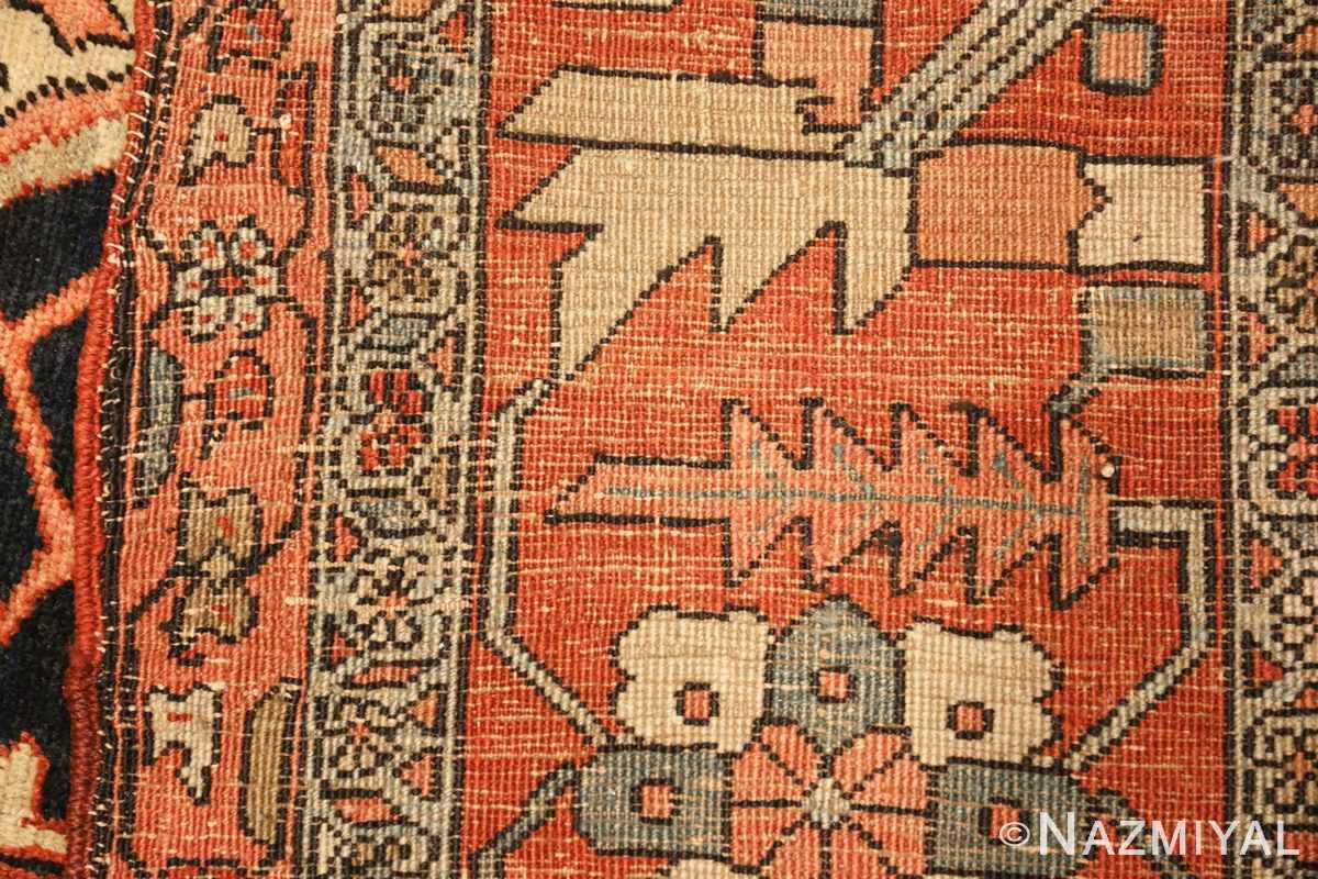 large antique serapi persian rug 49324 weave Nazmiyal