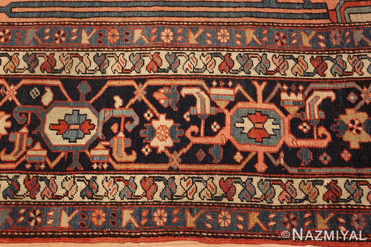 large antique serapi persian rug 49332 border Nazmiyal