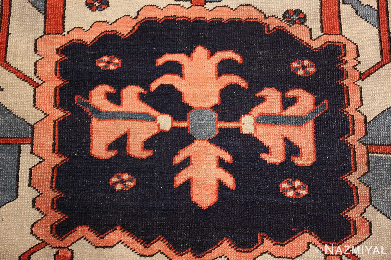 large antique serapi persian rug 49332 center Nazmiyal