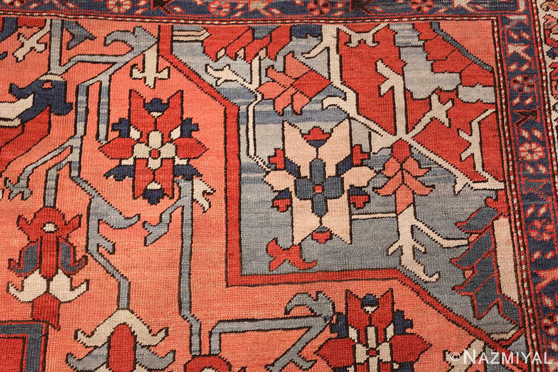 large antique serapi persian rug 49332 design Nazmiyal
