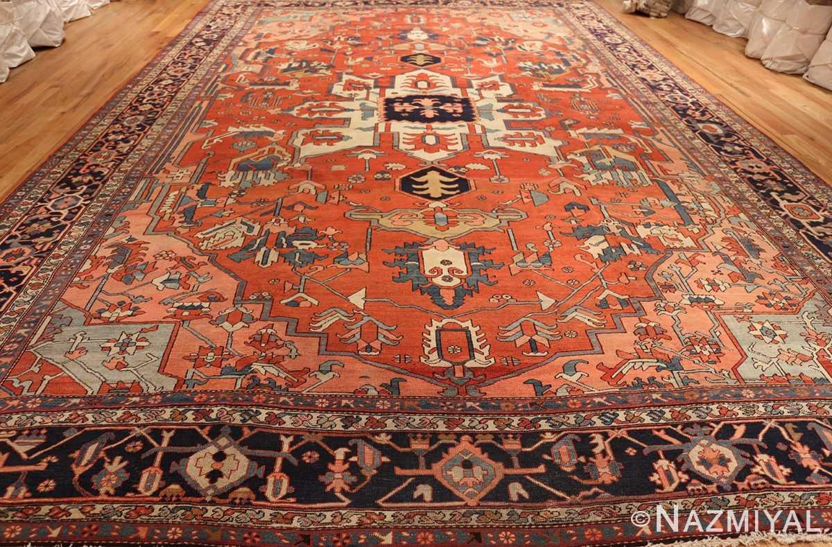 large antique serapi persian rug 49332 full Nazmiyal